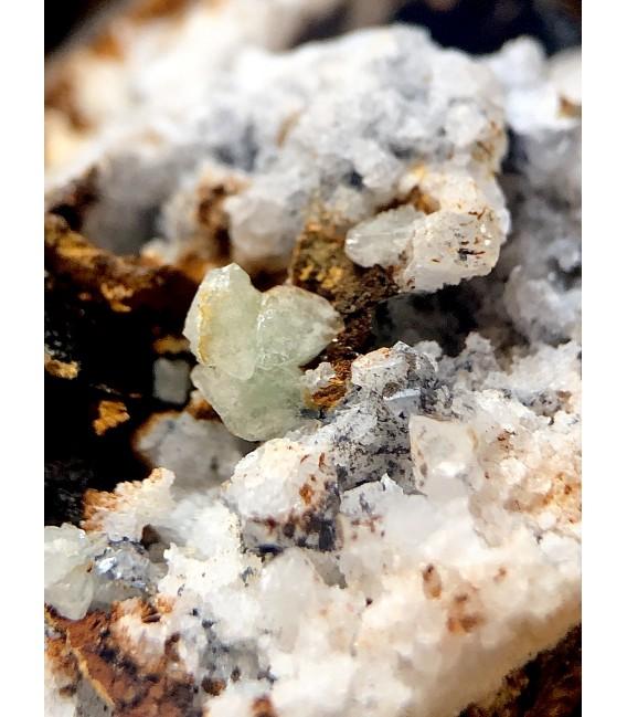 Green Anglesite - Montevecchio mine, Sardinia, Italy