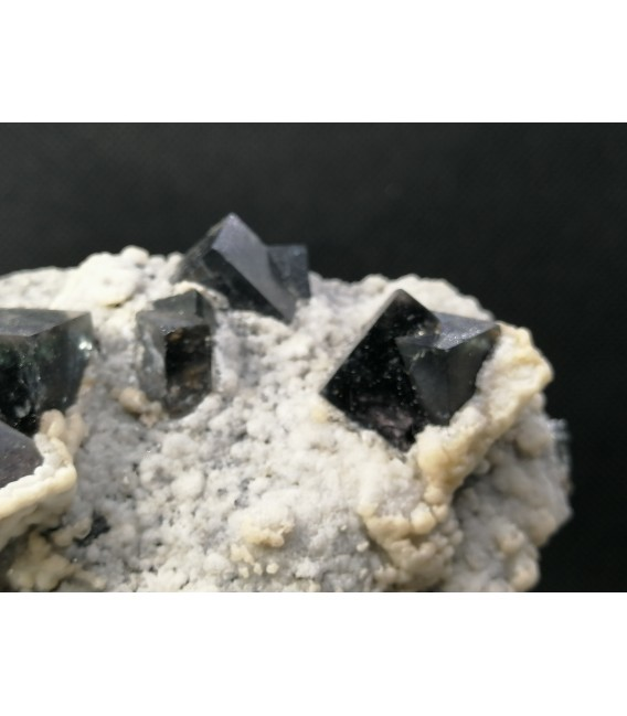 Fluorite Calcite-Snowstorm Pocket, Diana Maria mine, Frosterley, Weardale UK
