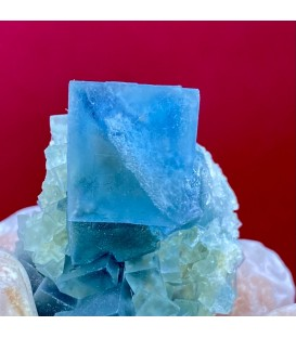 Blue color changing fluorite, Monte San Calogero, Sicily, Italy