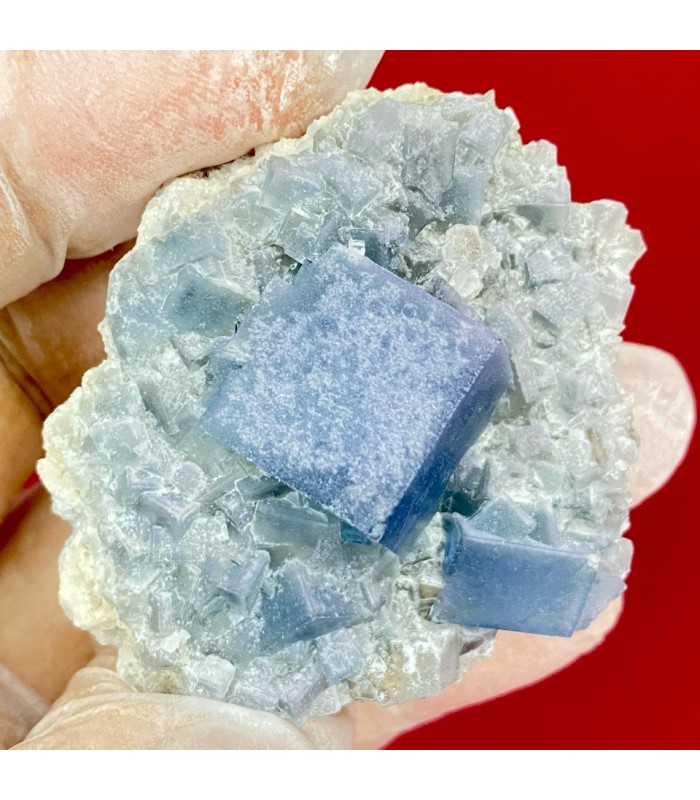 Blue fluorite, Monte San Calogero, Sicily, Italy