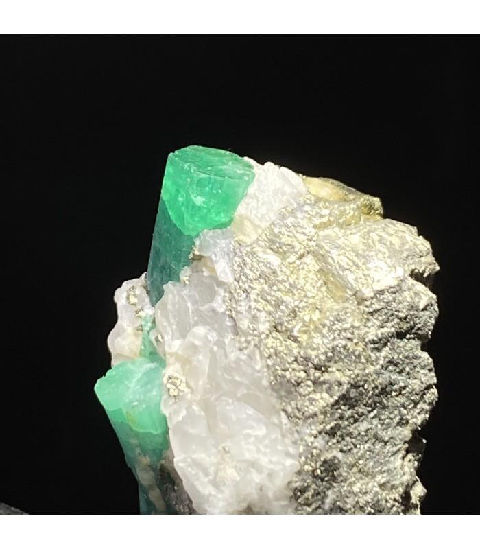 Emerald with pyrite, Muzo , Colombia