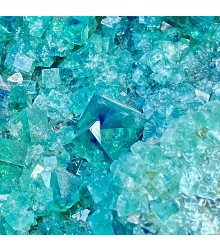 Emerald  green, gem fluorescent fluorite -  Diana Maria Mine, England