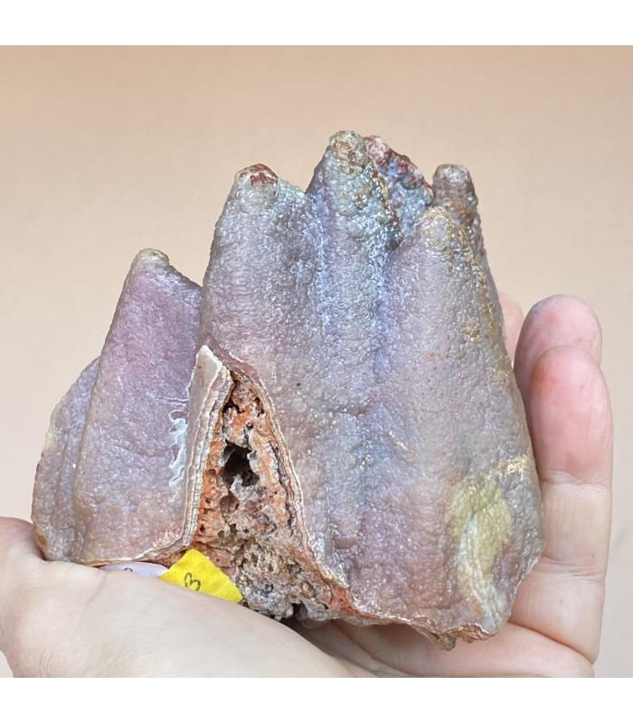 Smithsonite pseudomorph, red to purple color, San Giovanni mine, Sardinia, Italy