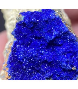 Azurite - Morenci Mine Copper Mountain Mining District, Greenlee Co., Arizona, USA.