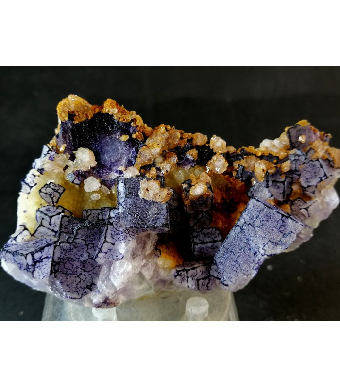 Fluorite Qr Code - Qinglong Mine, Qinglong , China