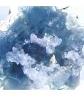 Blue with white-purple 2nd generation fluorite, Monte San Calogero, Sicily, Italy