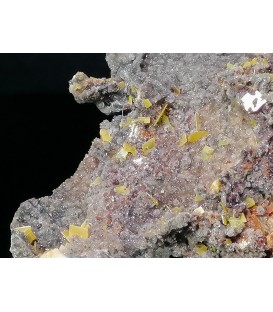 Wulfenite  - Zorzone mine Val Brembana  Italy