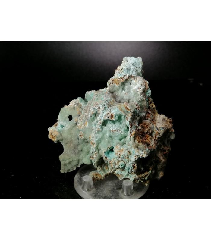 Smithsonite Auricalcite - Val Parina mine Oltreilcolle   Italy