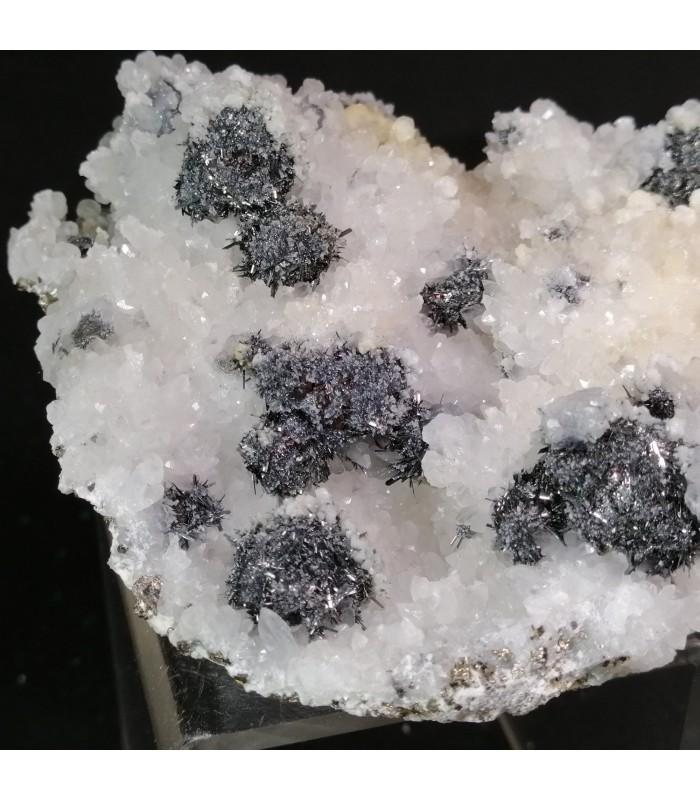 Chalcostibite Quartz - Boldut Mine, Cavnic, Maramureș, Romania