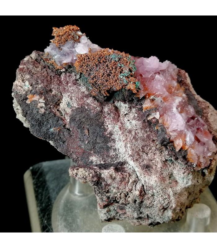 Copper on Cobaltoan Calcite - Musonoi mine R.D.C.