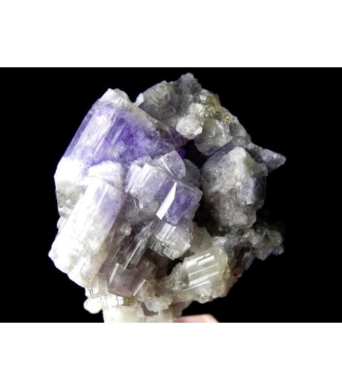Purple Apatite -  Shengus, Haramosh Mts., Skardu District, Baltistan, Gilgit-Baltistan, Pakistan