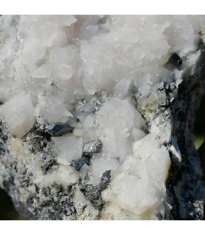 Acanthite & Calcite -  Zacatecas Messico