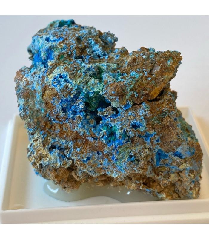 Carbonatocyanotrichite - Reppia Mine, Liguria, Italy