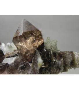 Smoky Quartz Adularia    - Val Giuv Sedrun CH
