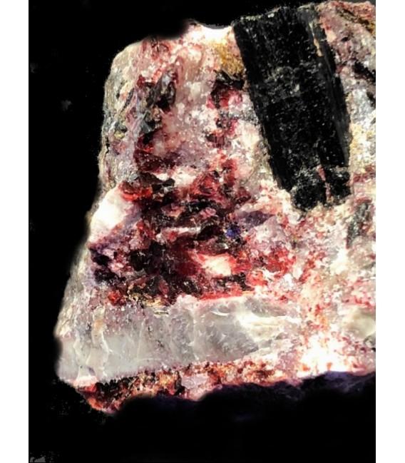 Eudialyte , saneroite,aegirine, astrophyllite, Rouma island, Los Archipelago, Guinea